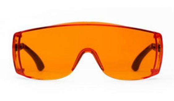 Light orange glasses